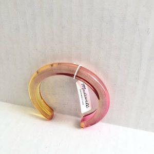 Madewell Ombré Resin Cuff Bracelet New With Tag